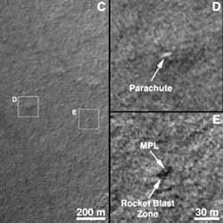 На Марсе нашли погибший космический корабль