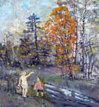 Александр Балтин: Цена идеала, дети в лесу