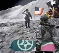 Буратино-водолаз на Луне