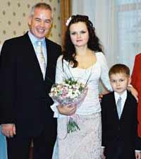 Наталья Страттон с мужем и сыном - Мишей!