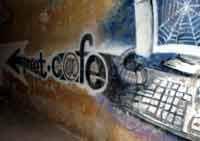 Съедобный он-лайн тексто-граффити